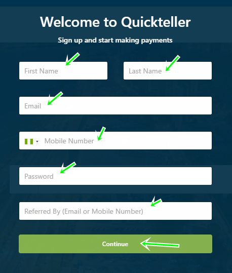 Steps To Quickteller Registration For Online Payments