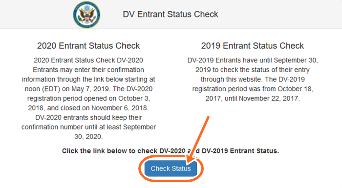 Entrant Status Check >> News About Dv Lottery Result 2019 Entrant Status Check Dv