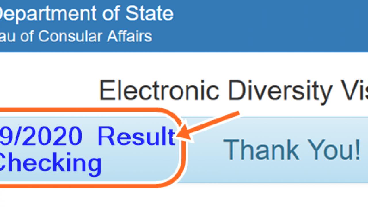 DV 2019 Result Checking and DV-2020 Entrant Status Check - LegitRoom