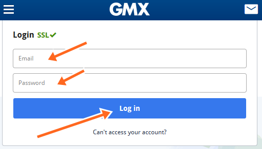 GMX Account Login