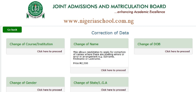 JAMB Correction Of Email - Change JAMB Email Address & Phone Number