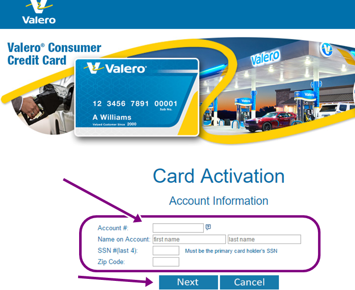 Valero Credit Card Activation