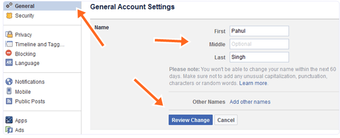 How To Change Facebook Profile Name On A Computer