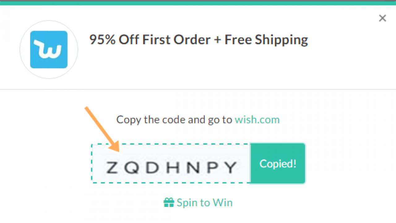 coupon code for free shipping on wish