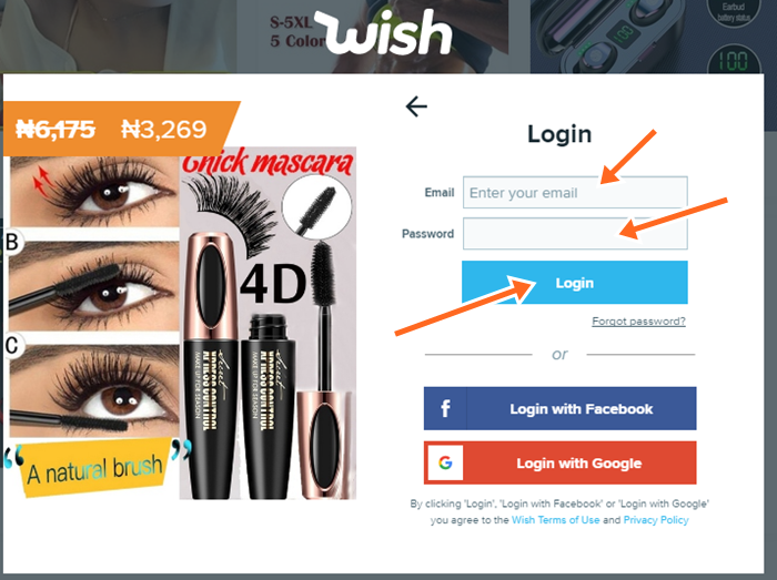 Wish UK Sign In at Wish.com Official Site with Email Address