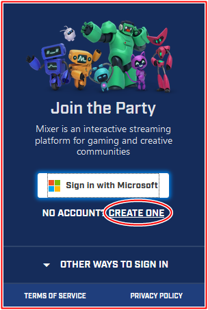 How To Create Mixer Account | Mixer.com Sign in With Microsoft