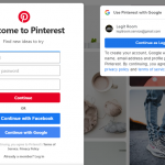 Pinterest Sign Up With Google
