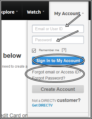 Steps To Direct Tv Create An Account - www.directv.com Sign Up