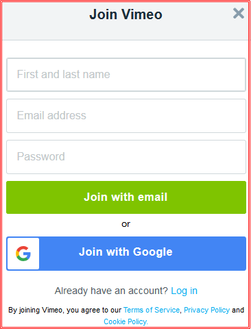 Steps To Vimeo Sign In With Email, Facebook, Google