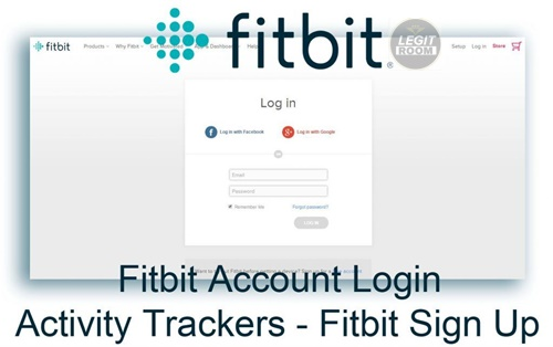 Fitbit Login With Email Address, Facebook, Google Account