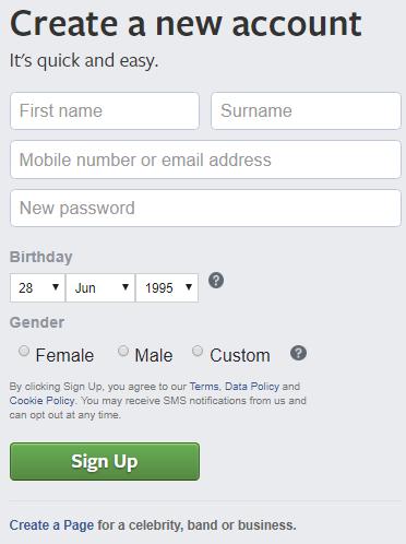 web.facebook.com Registration - Facebook Email Address Sign Up