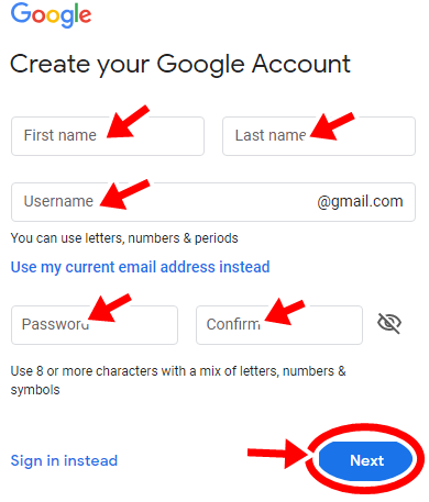 Gmail Account Creation: Gmail Register - Gmail New Sign Up